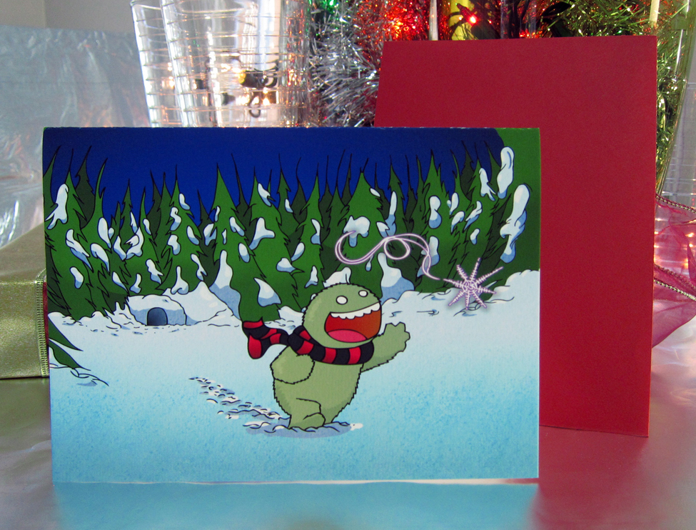 Holiday Cards 2011 - Card with red envelope